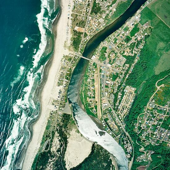 Aerial photo of Pacific City Oregon