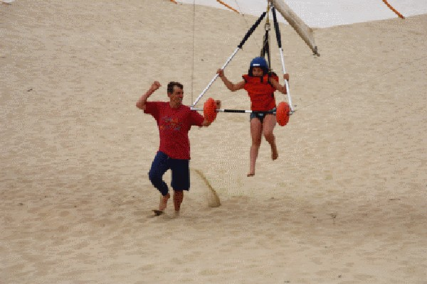 Hang Gliding in Pacific City young person first lesson