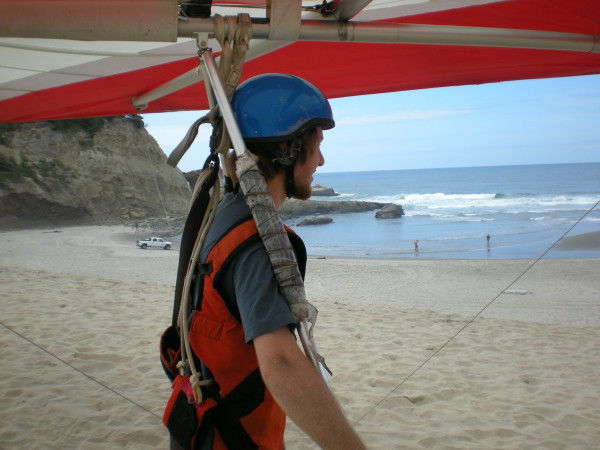 Hang Gliding in Pacific City  - nice landing