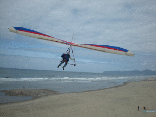 Hang Gliding in Pacific City overlooking Pacific Ocean