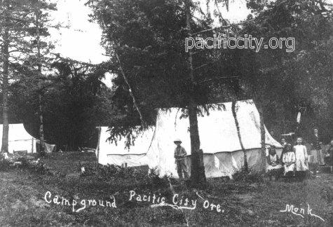 Camping Pacific city Oregon early days